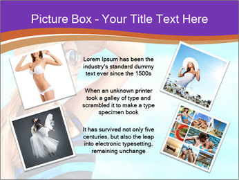 Woma Wearing Beach Hat PowerPoint Template - Slide 24