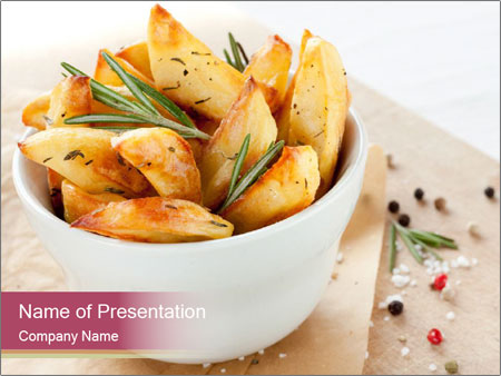 Village Potatoes PowerPoint Template