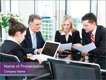 Meeting company PowerPoint Template