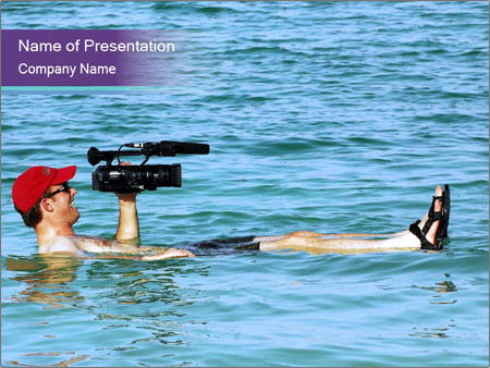 Professional photography sea PowerPoint Template