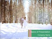Couple in the forest PowerPoint Template