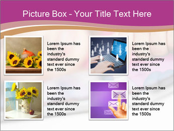 Girl playing with the tablet PowerPoint Template - Slide 14