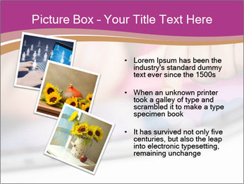 Girl playing with the tablet PowerPoint Template - Slide 17