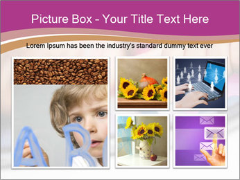 Girl playing with the tablet PowerPoint Template - Slide 19