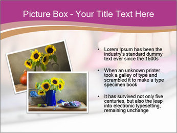 Girl playing with the tablet PowerPoint Template - Slide 20