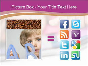 Girl playing with the tablet PowerPoint Template - Slide 21