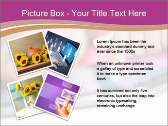 Girl playing with the tablet PowerPoint Template - Slide 23