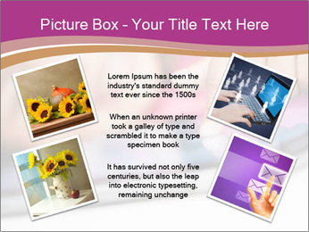 Girl playing with the tablet PowerPoint Template - Slide 24