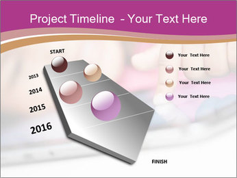 Girl playing with the tablet PowerPoint Template - Slide 26