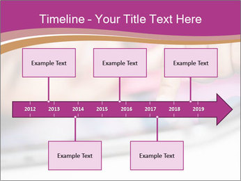 Girl playing with the tablet PowerPoint Template - Slide 28