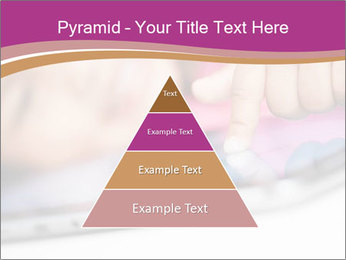 Girl playing with the tablet PowerPoint Template - Slide 30