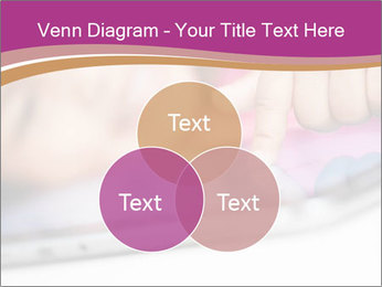 Girl playing with the tablet PowerPoint Template - Slide 33