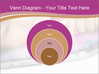 Girl playing with the tablet PowerPoint Template - Slide 34