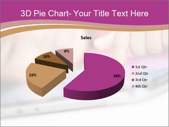 Girl playing with the tablet PowerPoint Template - Slide 35