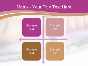 Girl playing with the tablet PowerPoint Template - Slide 37