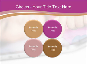 Girl playing with the tablet PowerPoint Template - Slide 38