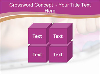 Girl playing with the tablet PowerPoint Template - Slide 39