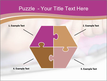 Girl playing with the tablet PowerPoint Template - Slide 40