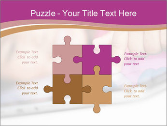 Girl playing with the tablet PowerPoint Template - Slide 43