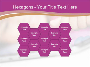 Girl playing with the tablet PowerPoint Template - Slide 44