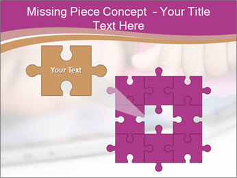 Girl playing with the tablet PowerPoint Template - Slide 45