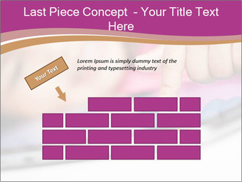 Girl playing with the tablet PowerPoint Template - Slide 46