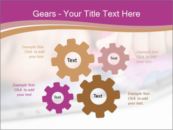 Girl playing with the tablet PowerPoint Template - Slide 47