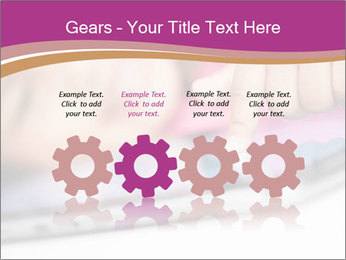 Girl playing with the tablet PowerPoint Template - Slide 48