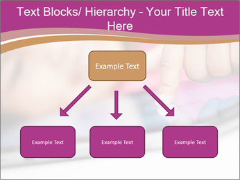 Girl playing with the tablet PowerPoint Template - Slide 69