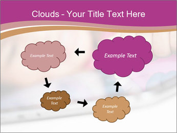 Girl playing with the tablet PowerPoint Template - Slide 72