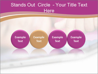 Girl playing with the tablet PowerPoint Template - Slide 76