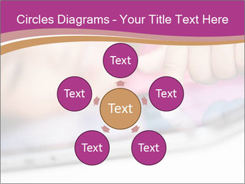 Girl playing with the tablet PowerPoint Template - Slide 78