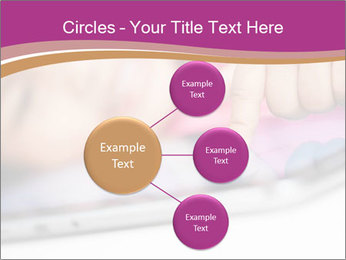 Girl playing with the tablet PowerPoint Template - Slide 79