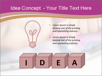 Girl playing with the tablet PowerPoint Template - Slide 80
