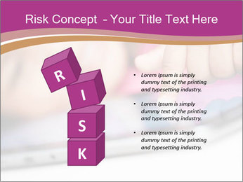 Girl playing with the tablet PowerPoint Template - Slide 81