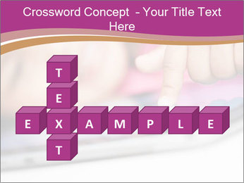 Girl playing with the tablet PowerPoint Template - Slide 82