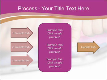 Girl playing with the tablet PowerPoint Template - Slide 85