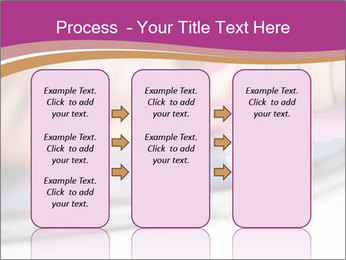 Girl playing with the tablet PowerPoint Template - Slide 86