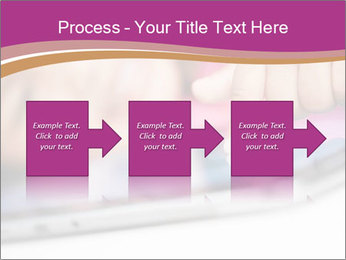 Girl playing with the tablet PowerPoint Template - Slide 88