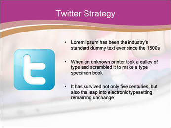 Girl playing with the tablet PowerPoint Template - Slide 9