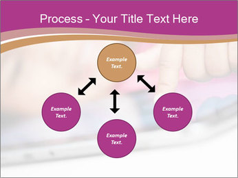 Girl playing with the tablet PowerPoint Template - Slide 91