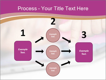 Girl playing with the tablet PowerPoint Template - Slide 92