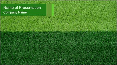 Grass field PowerPoint Template