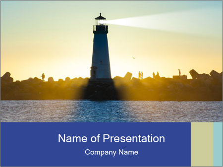 Lighthouse Silhouette PowerPoint Template