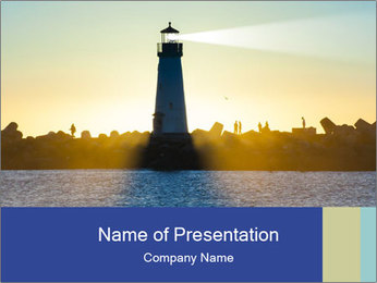 Lighthouse Silhouette PowerPoint Template - Slide 1