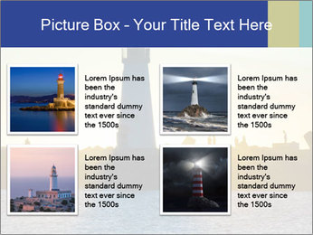 Lighthouse Silhouette PowerPoint Template - Slide 14