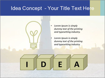 Lighthouse Silhouette PowerPoint Template - Slide 80