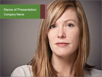 Attractive Woman In Thirties PowerPoint Template - Slide 1