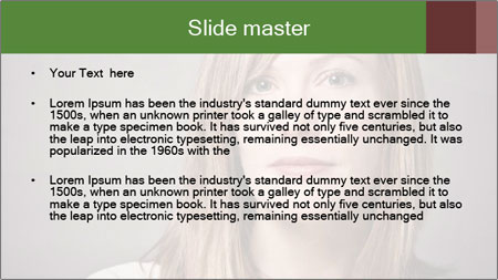 Attractive Woman In Thirties PowerPoint Template - Slide 2