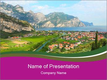 Alps Tour PowerPoint Template - Slide 1